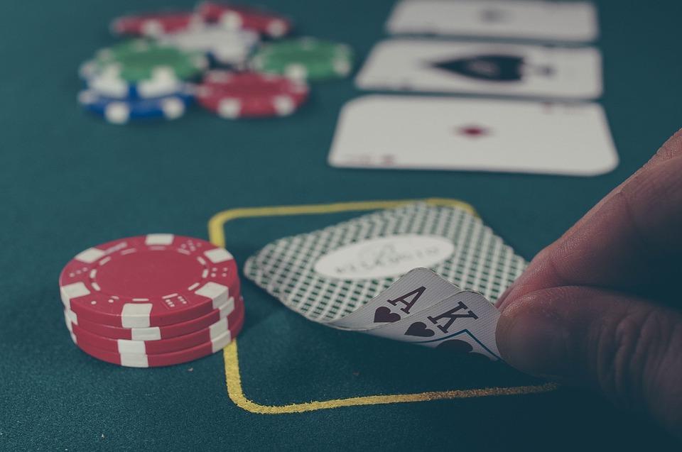 pokerchips med blackjack